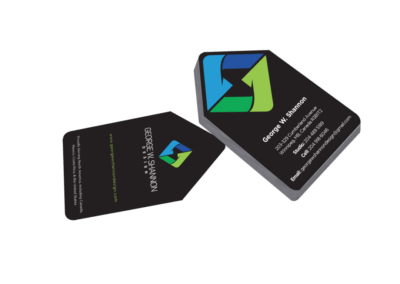 George W Shannon Design business cards